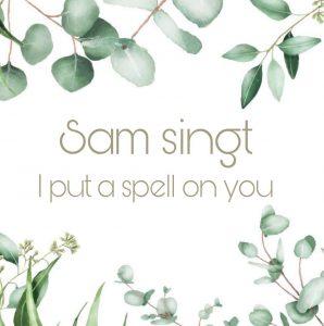 I put a spell on you You Tube Pflanze grün Sam Gesang bei Hochzeit